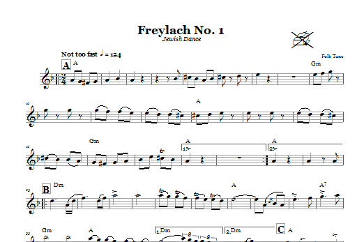 Freylach No. 1 (Jewish Dance) Sheet Music