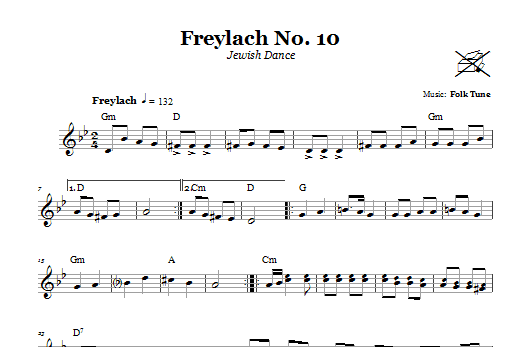 Freylach No. 10 (Jewish Dance) Sheet Music