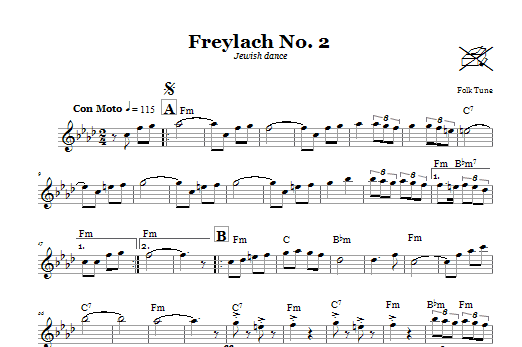 Freylach No. 2 (Jewish Dance) Sheet Music