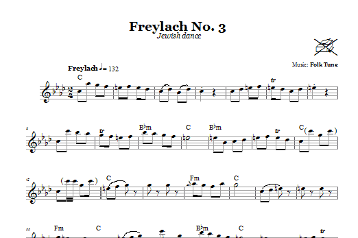 Freylach No. 3 (Jewish Dance) Sheet Music