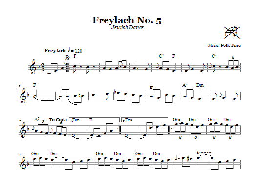 Freylach No. 5 (Jewish Dance) (Lead Sheet / Fake Book)