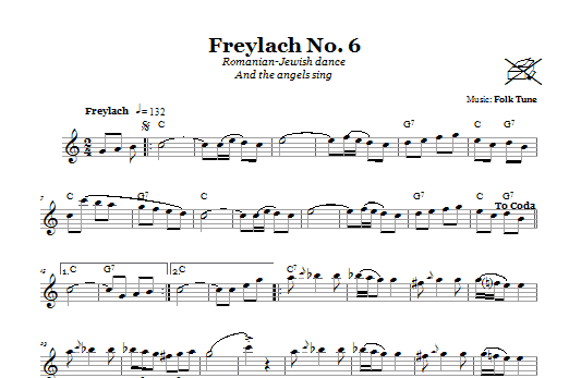Freylach No. 6 (Romanian-Jewish Dance (And The Angels Sing)) Sheet Music