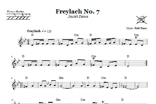 Freylach No. 7 (Jewish Dance) (Lead Sheet / Fake Book)