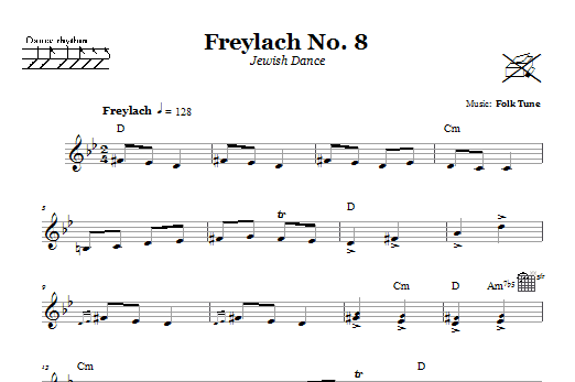 Freylach No. 8 (Jewish Dance) (Lead Sheet / Fake Book)