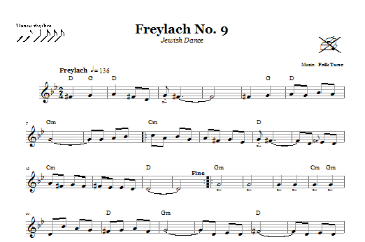 Freylach No. 9 (Jewish Dance) (Lead Sheet / Fake Book)