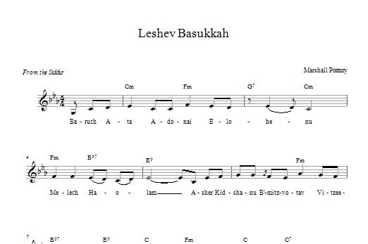 Leshev Basukkah (Lead Sheet / Fake Book)