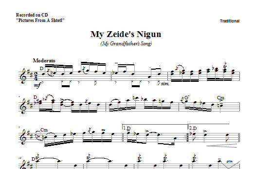 My Zeide's Nigun Sheet Music