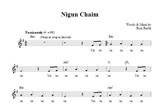 Nigun Chaim Sheet Music