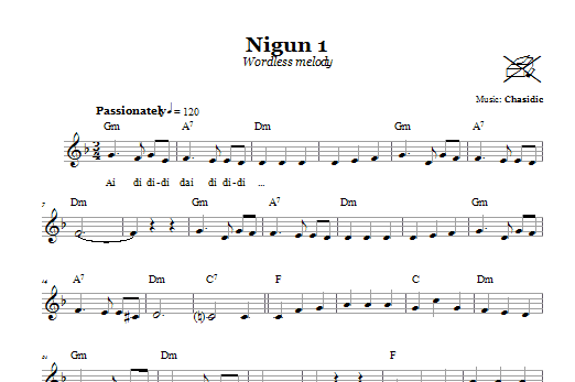 Nigun 1 (Wordless Melody) Sheet Music