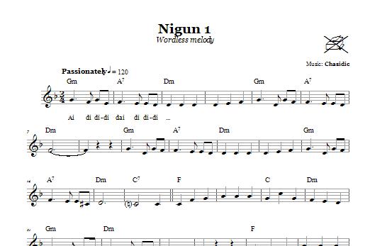 Nigun 1 (Wordless Melody) (Lead Sheet / Fake Book)