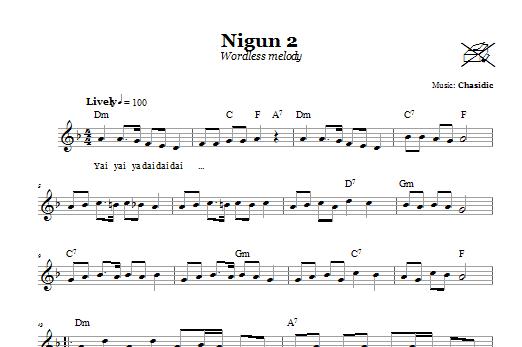 Nigun 2 (Wordless Melody) Sheet Music