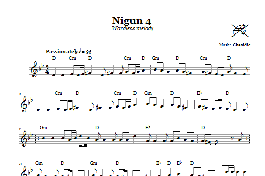 Nigun 4 (Wordless Melody) Sheet Music