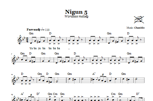 Nigun 5 (Wordless Melody) Sheet Music