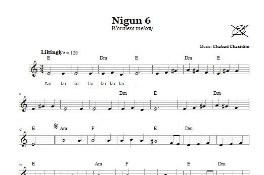 Nigun 6 (Wordless Melody) Sheet Music