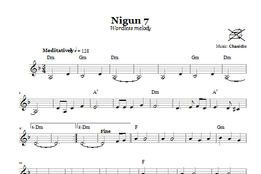 Nigun 7 (Wordless Melody) (Lead Sheet / Fake Book)