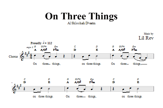 On Three Things Sheet Music