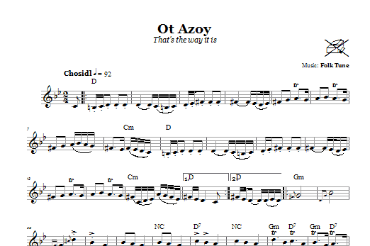 Ot Azoy (That's The Way It Is) Sheet Music