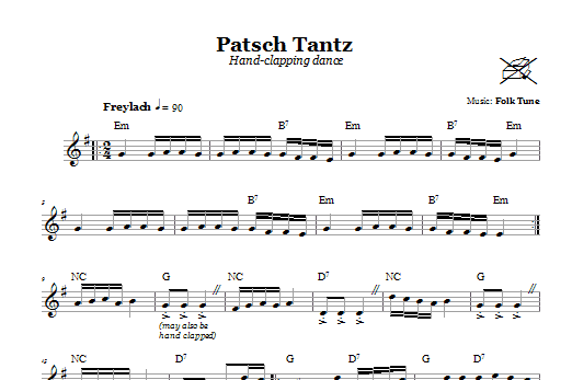 Patsch Tantz (Hand-Clapping Dance) Sheet Music