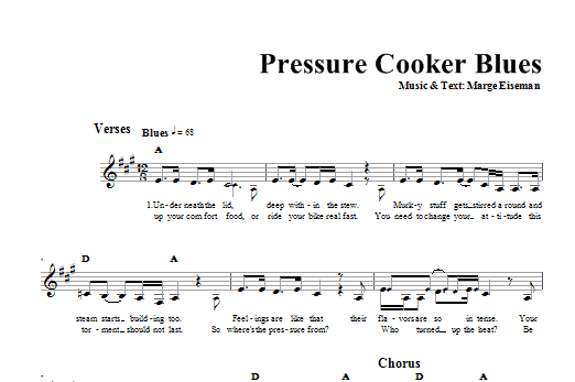 Pressure Cooker Blues (Lead Sheet / Fake Book)