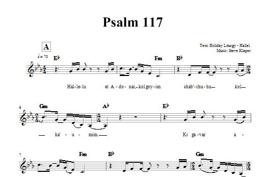 Psalm 117 Sheet Music