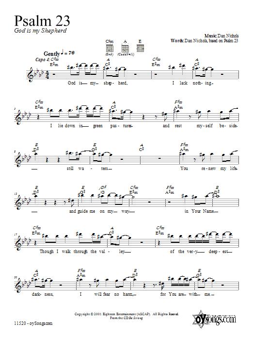 Psalm 23 Sheet Music