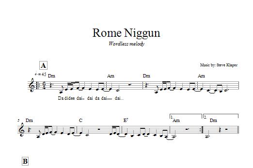 Rome Niggun Sheet Music