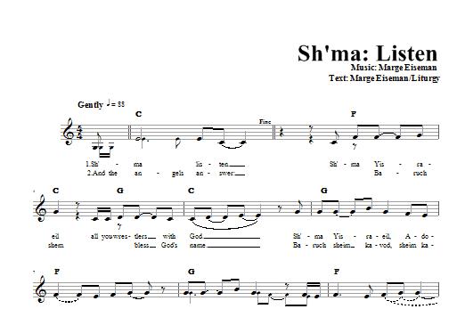 Sh'ma - Listen Sheet Music