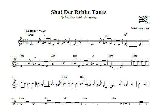 Sha! Der Rebbe Tantz (Quiet! The Rebbe Is Dancing) Sheet Music
