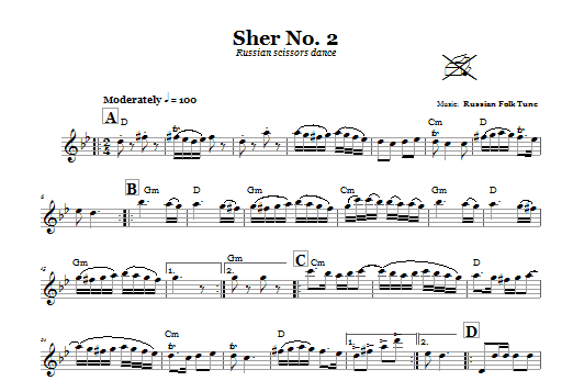 Sher No. 2 (Russian Scissors Dance) Sheet Music