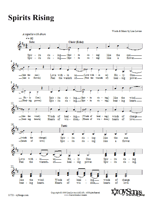 Spirits Rising Sheet Music