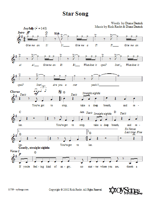 Star Song (Lead Sheet / Fake Book)