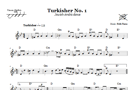 Turkisher No. 1 (Jewish-Arabic Dance) (Lead Sheet / Fake Book)