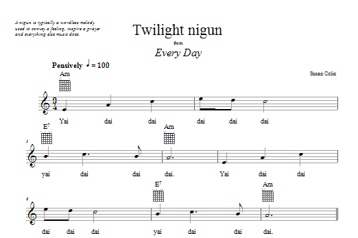 Twilight Nigun Sheet Music