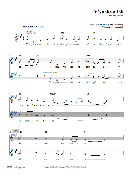 V'yashvu Ish Sheet Music