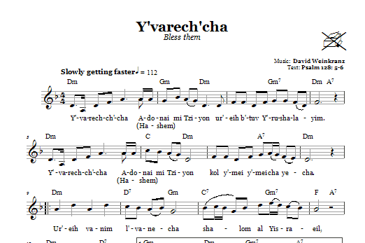 Y'varech'cha (Bless Them) Sheet Music