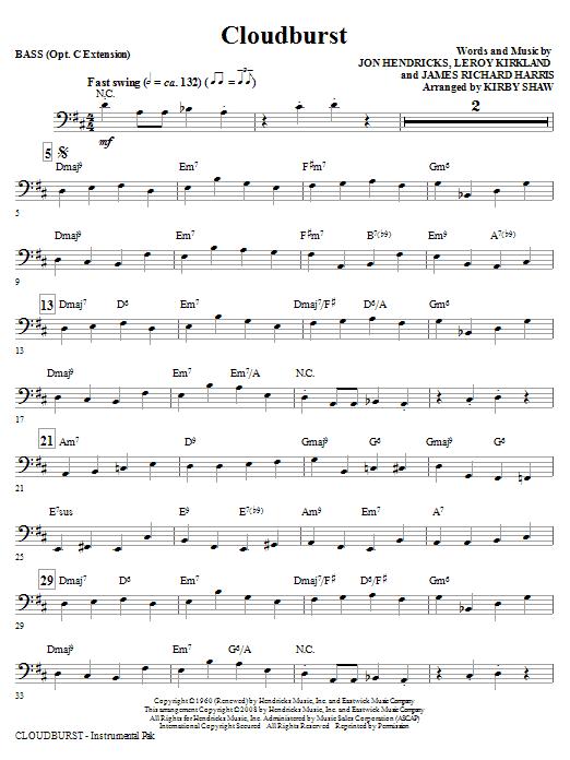 Cloudburst - Bass (Choir Instrumental Pak)