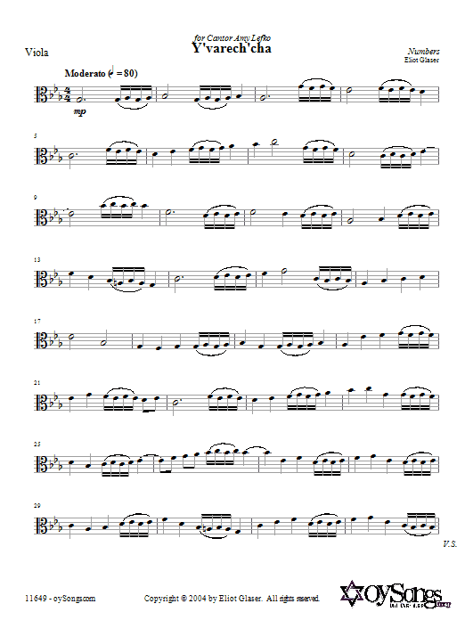 Y'varech'cha Sheet Music