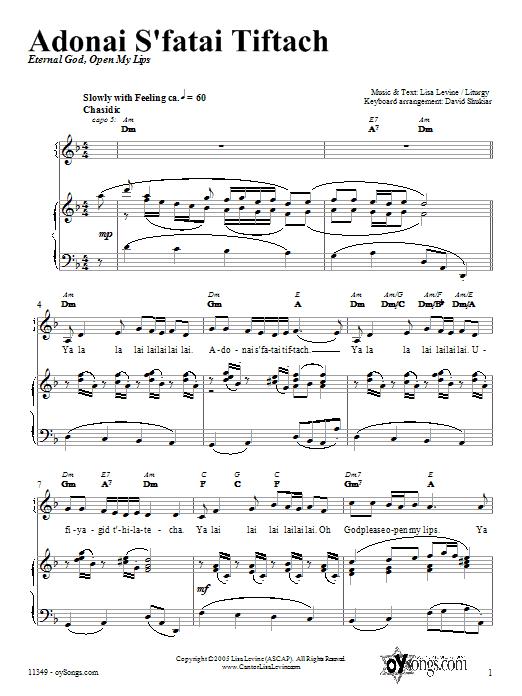 Adonai S'fatai Tiftach Sheet Music