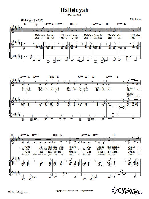 Halleluyah (Psalm 148) Sheet Music