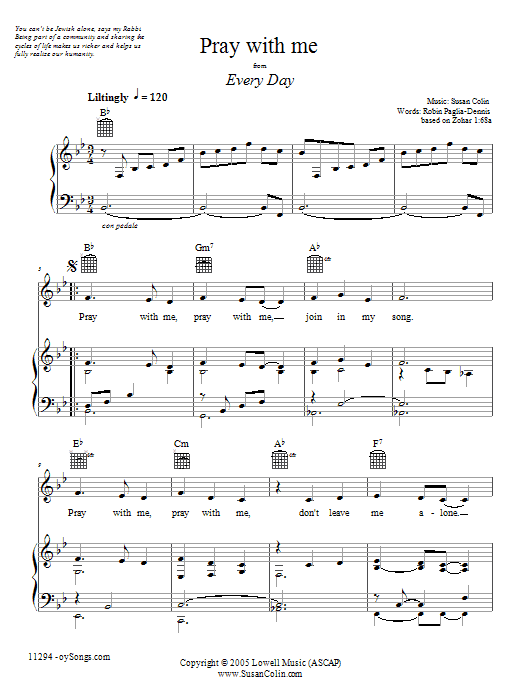 Pray With Me Sheet Music