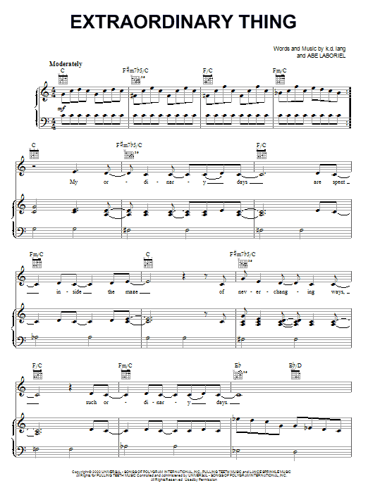 Extraordinary Thing (Piano, Vocal & Guitar (Right-Hand Melody))