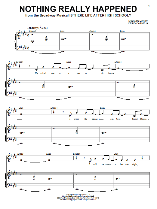 Nothing Really Happened Sheet Music