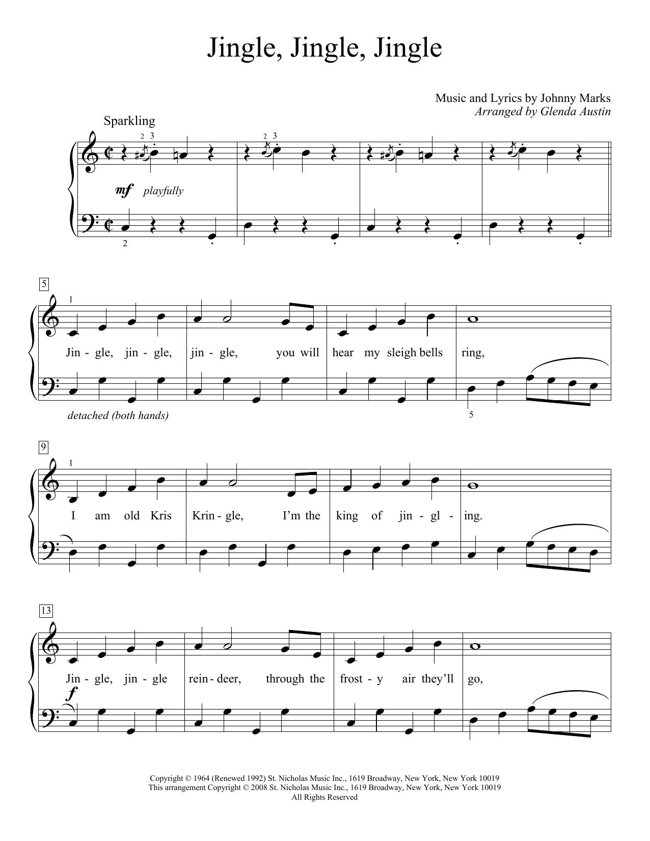 Jingle, Jingle, Jingle (Educational Piano)