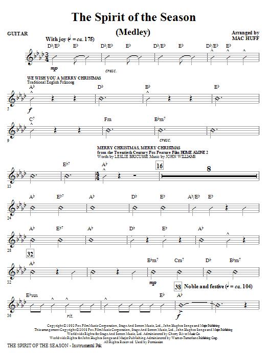 The Spirit Of The Season (Medley) - Guitar (Choir Instrumental Pak)
