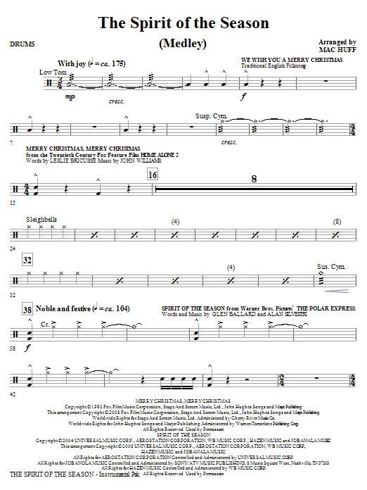 The Spirit Of The Season (Medley) - Drums (Choir Instrumental Pak)