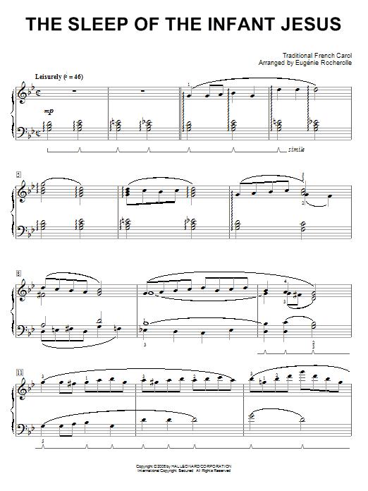 The Sleep Of The Infant Jesus (Piano Solo)