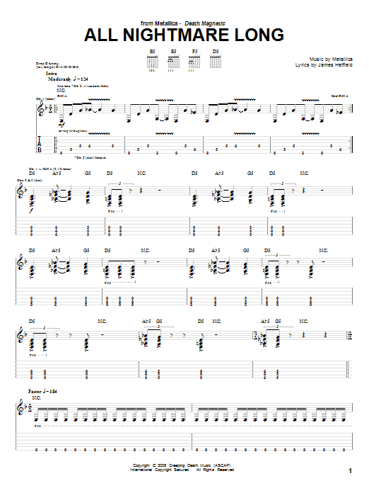 All Nightmare Long Sheet Music