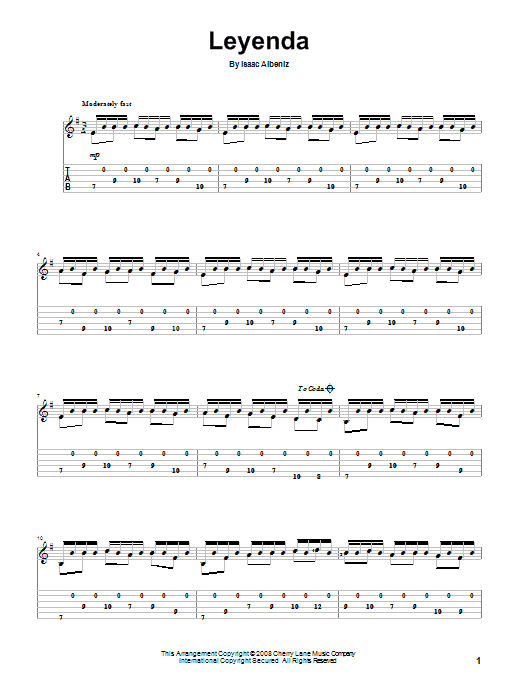 Leyenda Sheet Music