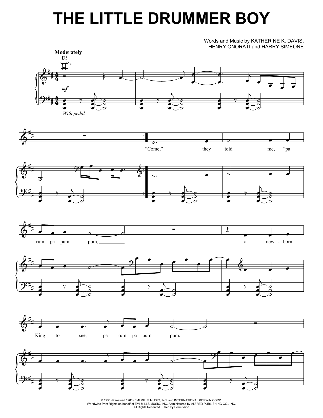 The Little Drummer Boy (feat. Andy McKee) Sheet Music