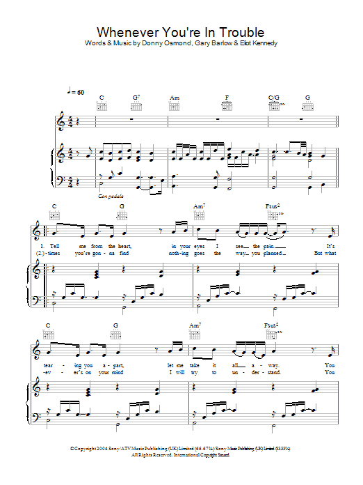 Whenever You're In Trouble Sheet Music